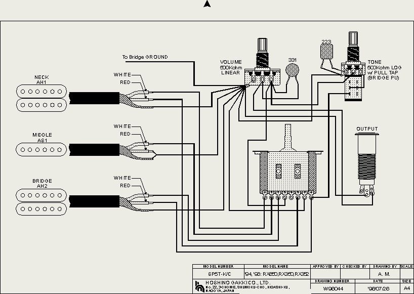 ibanez collectors world  schematic for ibanez rt series