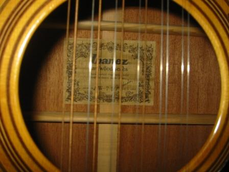 My AW-75 soundhole label