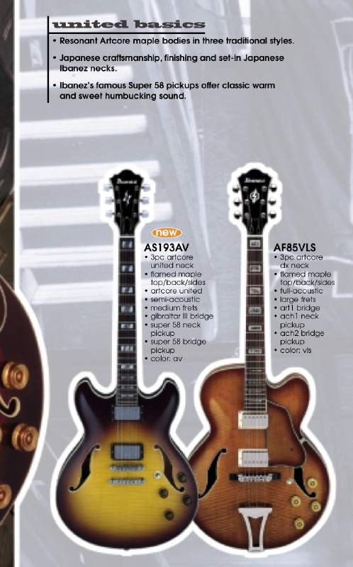 ibanez model numbers