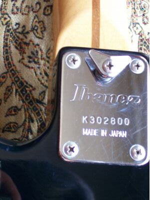 ibanez search by serial number