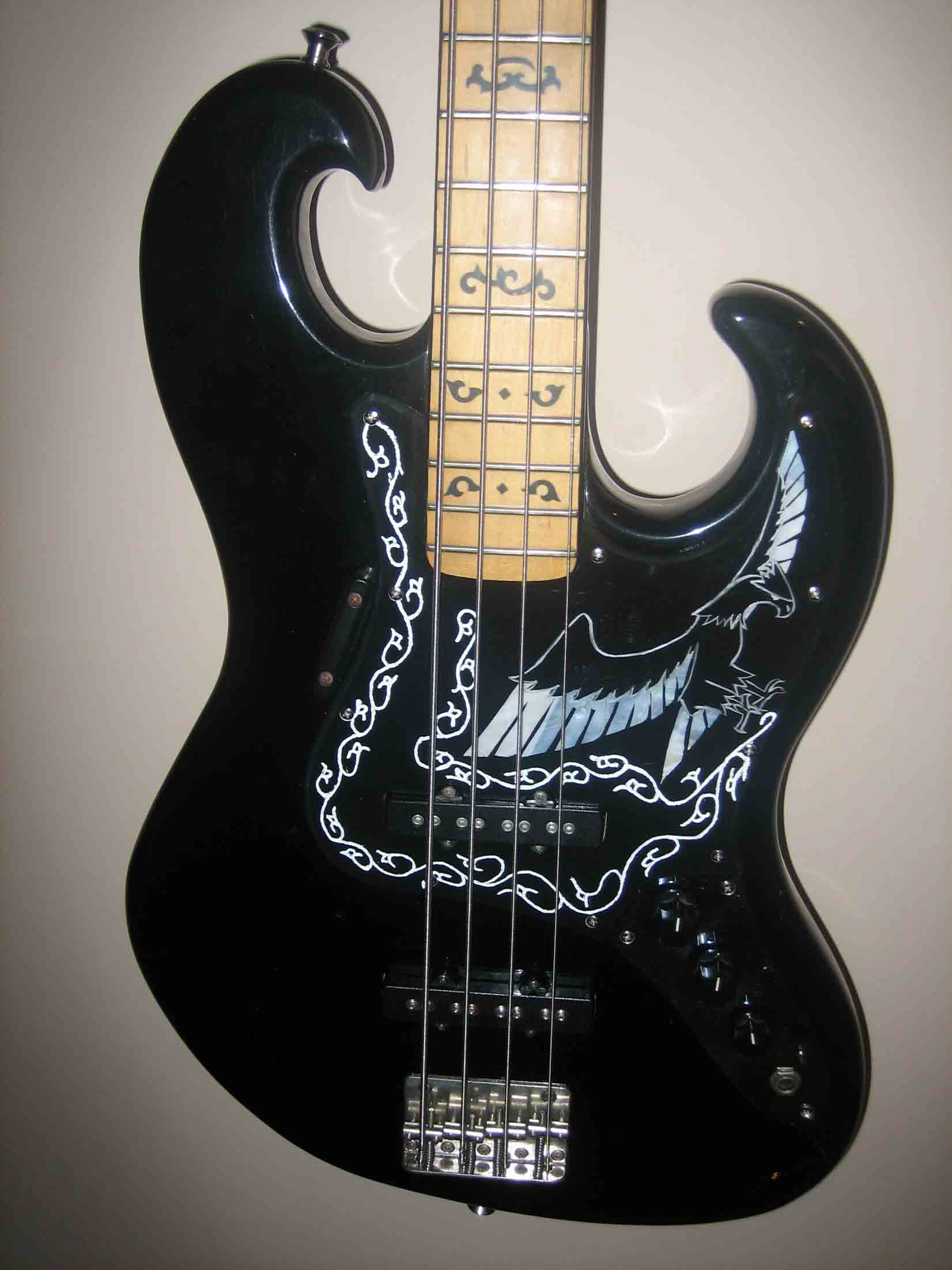 Ibanez Collectors World Black Eagle Bass Pickguard Done